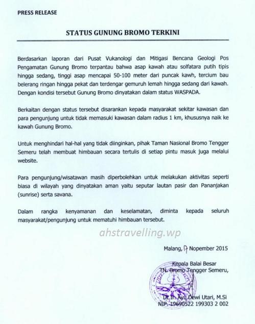 bromo press release