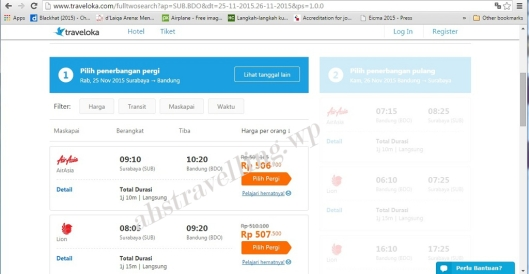 traveloka hasil search