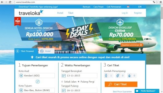 traveloka main site
