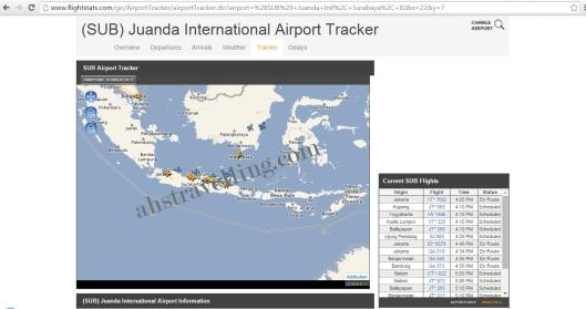 flightstats - juanda airport tracker