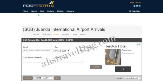 flightstats - juanda arrivals