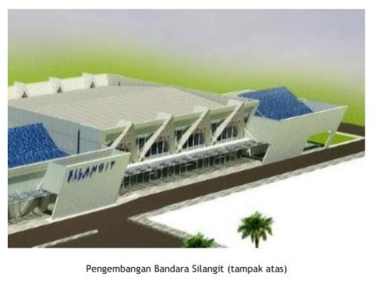 bandara silangit - pengembangan tampak atas