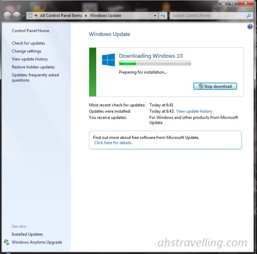 windows 10 preparing installation croped