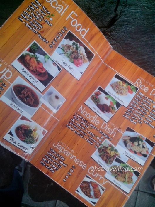 de'oak menu