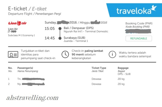 lion air - traveloka tiket