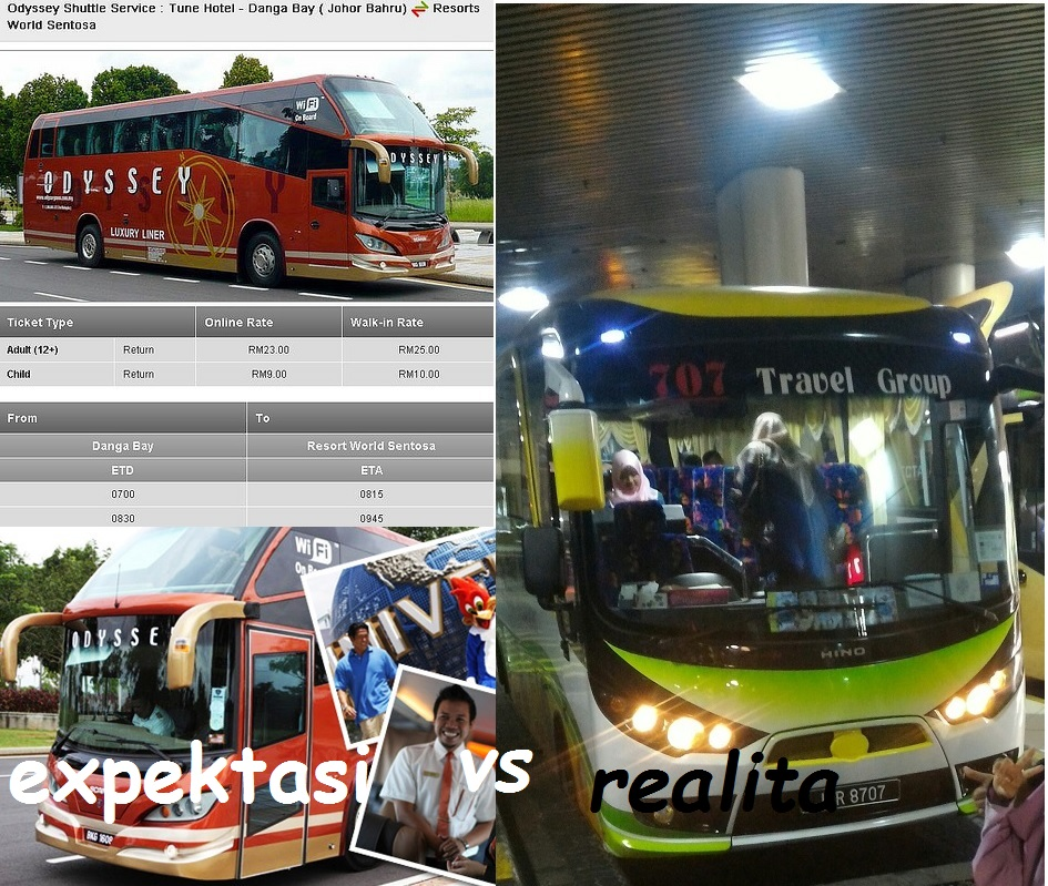 Review Shuttle Tune Hotels Danga Bay Johor MY to Universal Studios